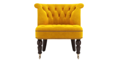 Accent chair helene velvet yellow gold