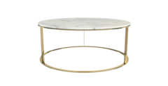 Huber white marble and gold table
