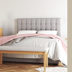 Leia bed frame with sheets