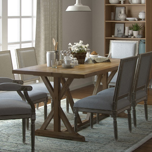Chablis trestle table and dining chairs