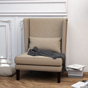 Marcel wing back chair
