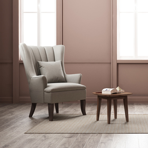 Hillary wingback reading chair with book